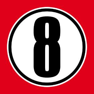 Article Chiffre 8 dans un cercle opaque Imprimer.