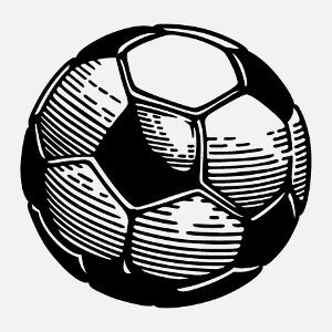 Ballon de foot transparent à imprimer sur t-shirt ou sac de sport.