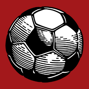 Imprimer un maillot sport ou un t-shirt Football avec ce motif ballon deux couleurs.