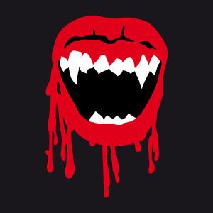 Bouche de vampire modifiable spéciale impression de t-shirt pour Halloween.