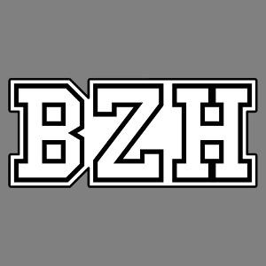 Accessoire BZH écrit en lettres deux couleurs personnalisé.