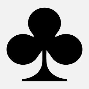 Symbole trèfle, un design jeu de carte et poker à personnaliser.