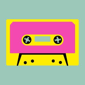 Cassette stylisée à personnaliser, design spécial impression sur t-shirt.