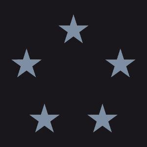 T-shirt Cercle composé de cinq étoiles en or ou argent métallique customisé.