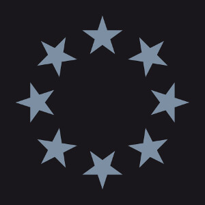 Personnalisez un t-shirt étoiles avec ce cercle composé de 8 étoiles à 5 branches.