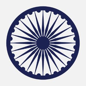 Chakra, symbole indien, roue du drapeau de l'Inde vectorielle à personnaliser.