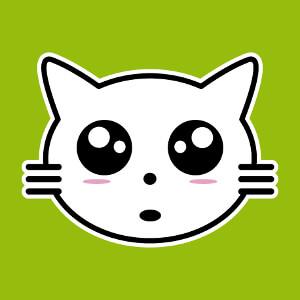 Tee-shirt Chaton mignon en tracés manga customisé en ligne.