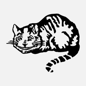 Article Chat du cheshire vectoriel spécial impression t-shirt personnalisé.