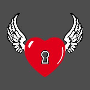 Coeur ailé, cœur d'ange, un design love à personnaliser.