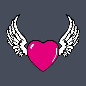 Coeur avec des ailes, un design à personnaliser.