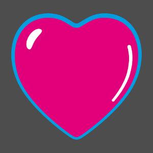 Coeur pop personnalisable en format vectoriel.