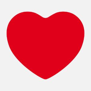 Tee-shirt Coeur arrondi classique et large à créer et personnaliser en ligne.