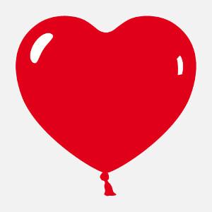 Ballon en forme de cœur rebondi orné de reflets.