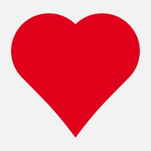 Article Coeur pointu classique à imprimer soi-même en ligne.