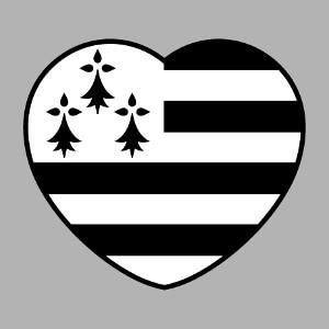 Coeur Bretagne, design J'aime la Bretagne à personnaliser.