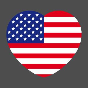 T-shirt Coeur USA à créer soi-même.