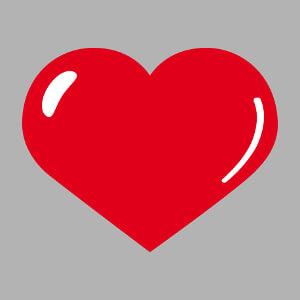 Créez un t-shirt amour avec ce cœur large à reflet bulle.