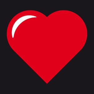 T-shirt Coeur personnalisé simple à pointe en angle à créer soi-même.