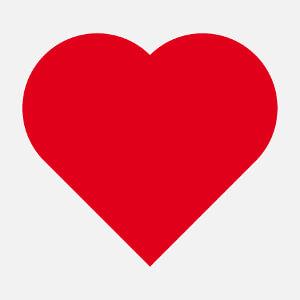 Coeur simple et pointu à personnaliser.