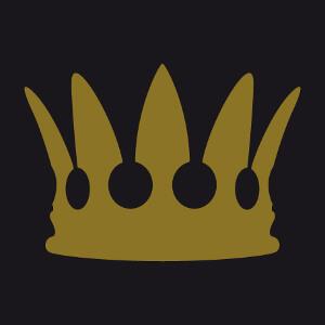 Couronne de roi ou reine à imprimer en or ou argent métallique.