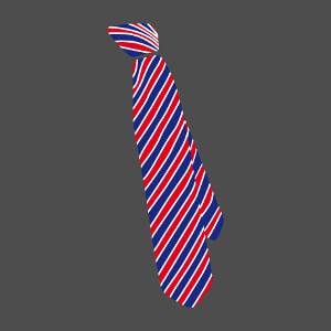 Tee-shirt Cravate anglaise stylée à rayures coloréess à créer soi-même.