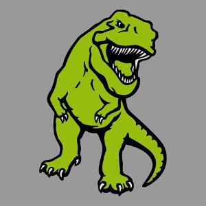 Dinosaure opaque dessiné de face à imprimer sur tee shirt.
