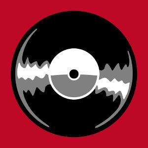 Vinyle vintage à personnaliser, un design musique retro.