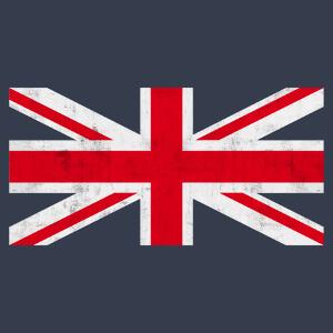 Drapeau anglais personnalisable, design haute résolution pour impression sur t-shirt et accessoires bleus.