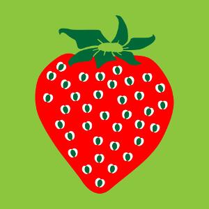 Accessoire Pictogramme coloré de fraise en ligne customisé en ligne.