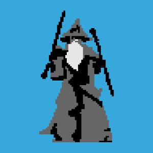 Motif personnalisable Seigneur des Anneaux en pixelart.