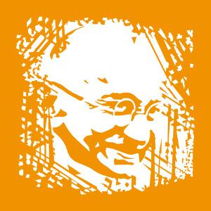 Imprimez un t-shirt Gandhi personnalisé.