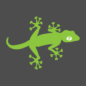 Gecko deux couleurs vectoriel à personnaliser, créez un t-shirt ou accessoire reptile original.