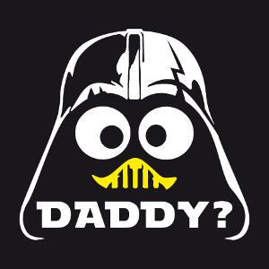 Tee-shirt Daddy? C'est toi mon papa? Caliméro et casque de Dark Vador à créer soi-même.