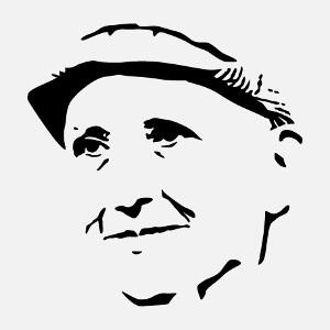 Gertrude Stein, portrait d'écrivain, un design culture et littérature.