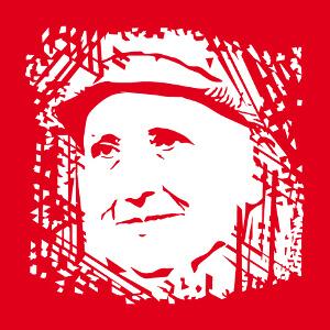 Gertrude Stein, portrait à personnaliser, un design littérature américaine.