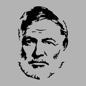 Créez un t-shirt ou une tasse Hemingway avec ce design portrait d'écrivain.