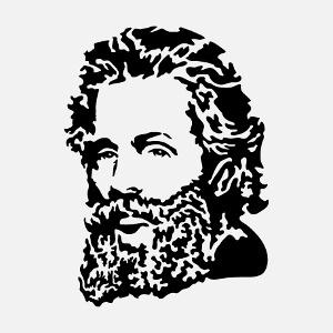 Portrait de l'écrivain Herman Melville auteur de Moby Dick.