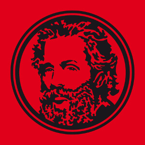 Article Portrait d'Herman Melville en médaillon à imprimer.