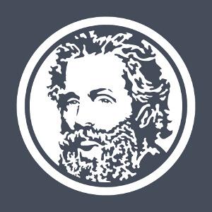 Portrait d'Herman Melville stylisé spécial impression sur fond sombre. Un design culture et littérature.