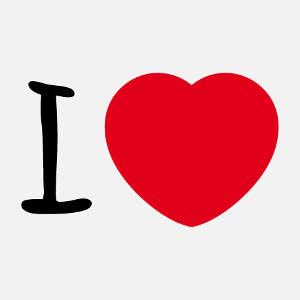 Cadeau Coeur rond I love à designer en ligne.