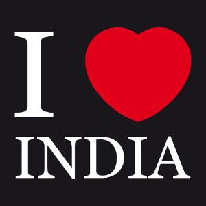 T-shirt I love India à imprimer.