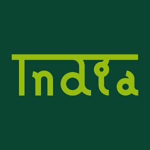 Article India écrit en alphabet latin surmonté d'une barre à créer soi-même.