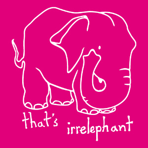 That's irrelephant, un design humour et calembour visuel.