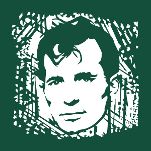 Personnalisez un t-shirt Jack Kerouac avec ce portrait stylisé de l'écrivain.