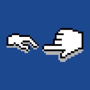 La main de Dieu et la création d'Adam en pixel art, Michelangelo geek.