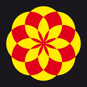 Motif lotus indien géométrique personnalisable.