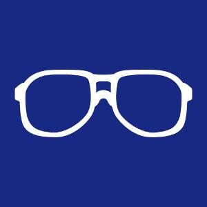 Lunettes de nerd une couleur à imprimer en ligne.