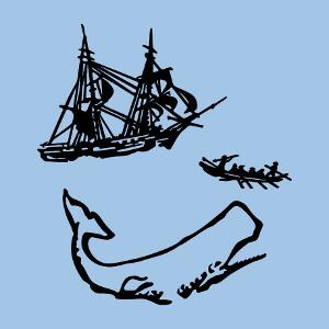 Illustration de Moby Dick, un design livre et littérature.