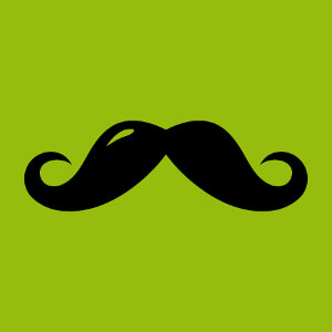 T-shirt Moustache anglaise à boucles et reflet clair à designer en ligne.