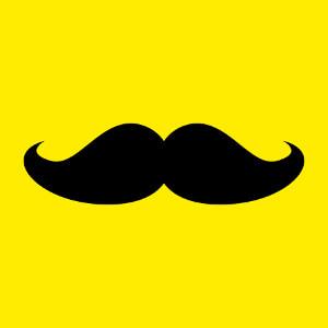 T-shirt Grosse moustache à tracé épais customisé en ligne.